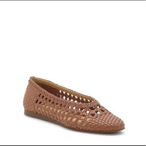 Lucky Brand Leather Woven Flat